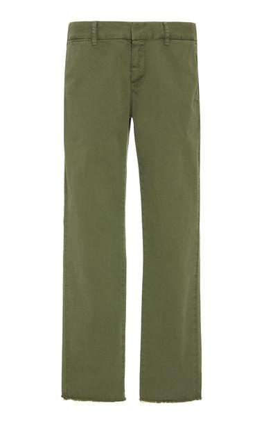 NILI LOTAN East Hampton Cropped Cotton-Blend Pants Size: 0