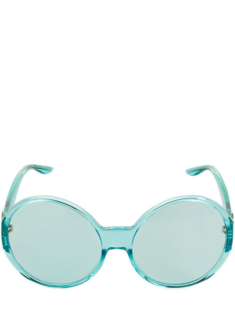 GUCCI Gg0954s Round Acetate Sunglasses in blue