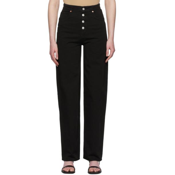 MM6 Maison Margiela Black 4-Button Jeans