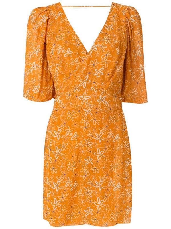 Clube Bossa Lisbet side pockets dress in orange