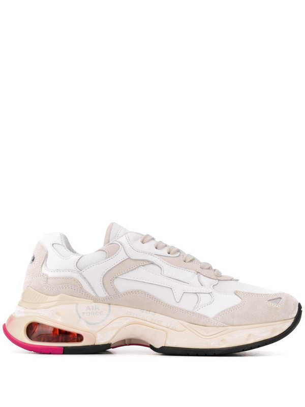 Premiata Sharky panelled sneakers in white