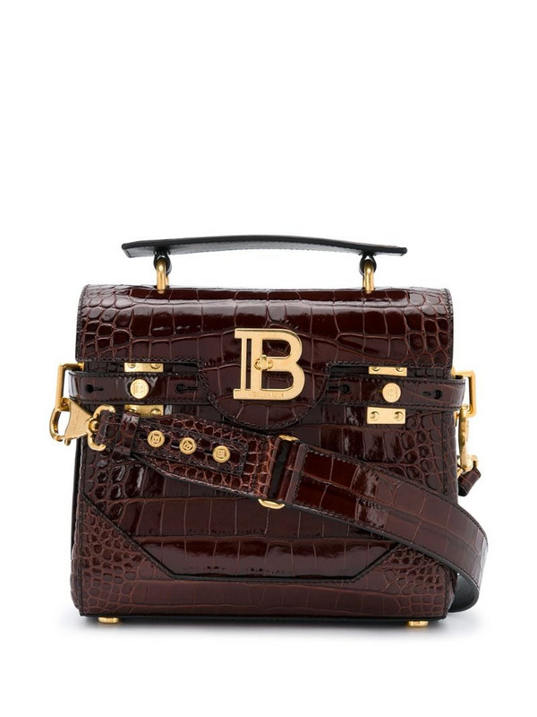 Balmain B-Buzz 23 tote bag in brown