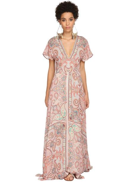 ETRO Printed Silk Muslin Dress