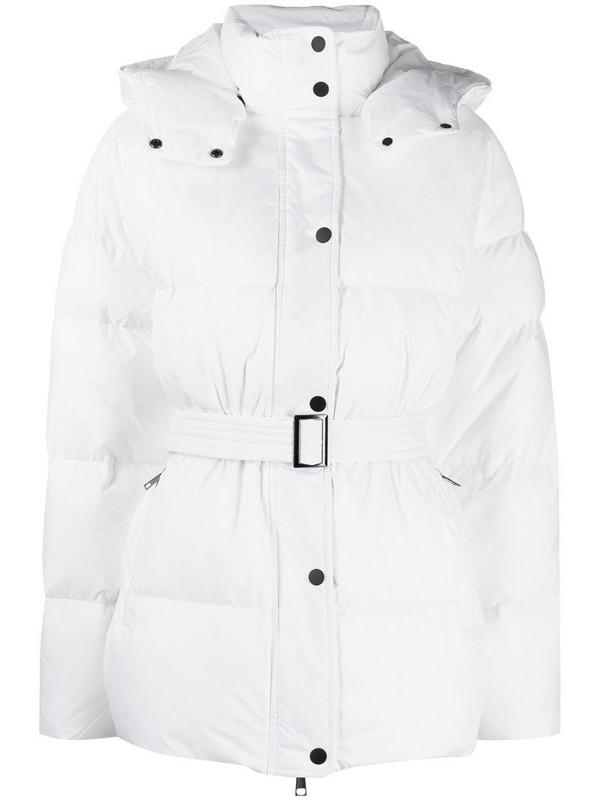 12 STOREEZ belted padded coat in white