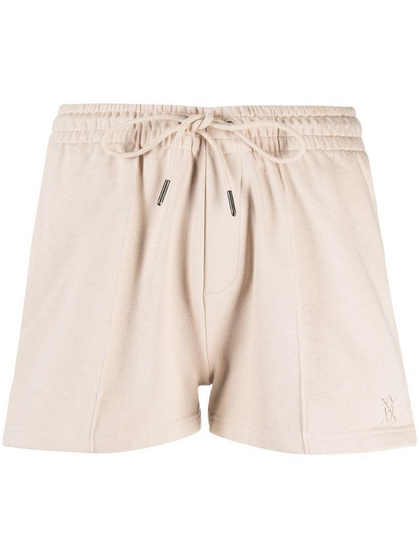 Daily Paper front crease track shorts in neutrals