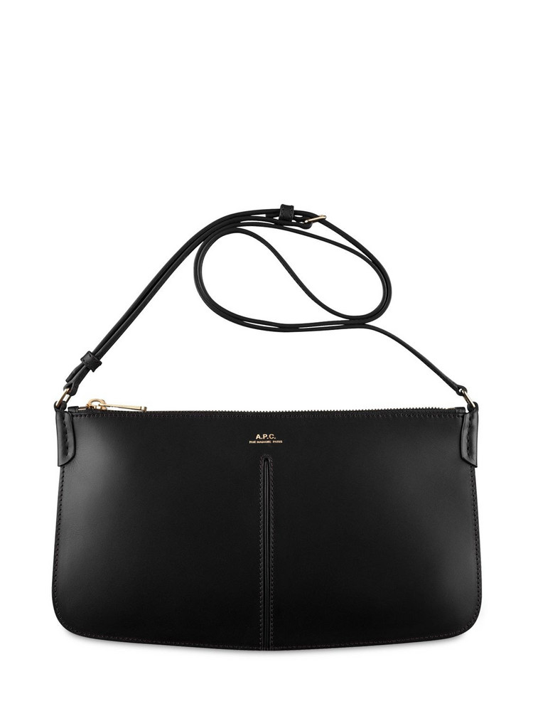 A.P.C. Betty Smooth Leather Shoulder Bag in black
