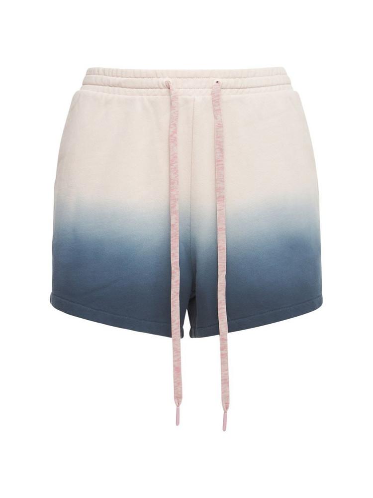 THE UPSIDE Resist Dye Christine Shorts in blue / white
