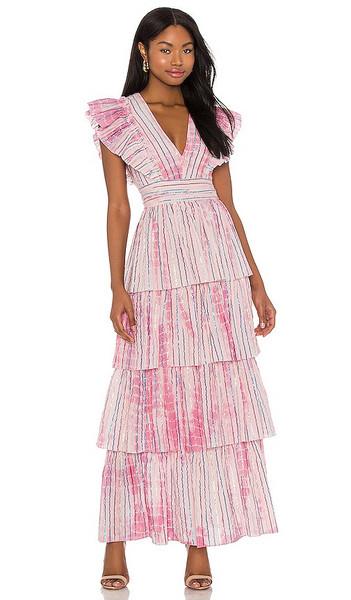 SAYLOR Stefania Maxi Dress in Pink in fuchsia