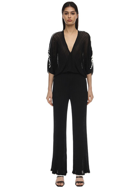 16R Tulipano Knit Jumpsuit in black / white