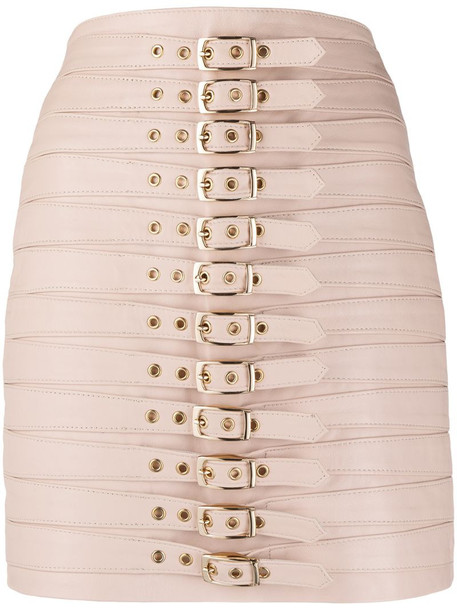 Manokhi buckle-fastening high-waisted skirt in pink