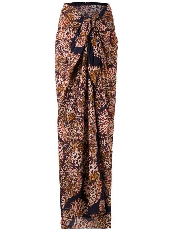 Isolda Paquistão printed beach skirt