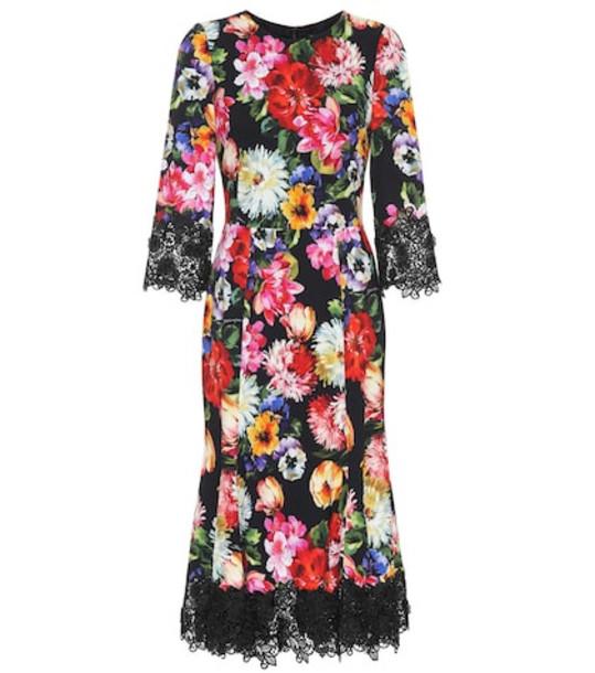 Dolce & Gabbana Floral crêpe midi dress