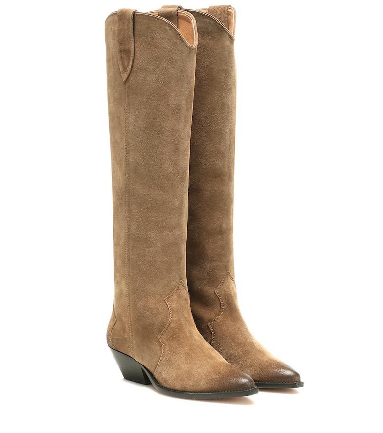 Isabel Marant Denvee suede boots in brown