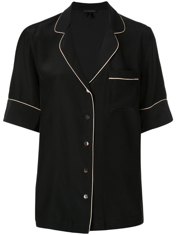 Kiki de Montparnasse button down pyjama shirt in black