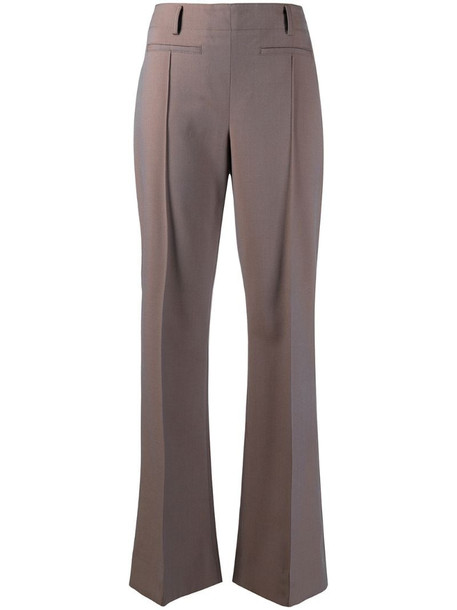 Acne Studios flared tailored trousers in brown