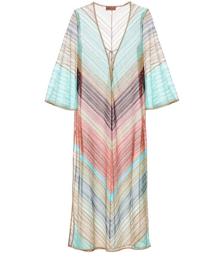 Missoni Mare Striped knit kaftan