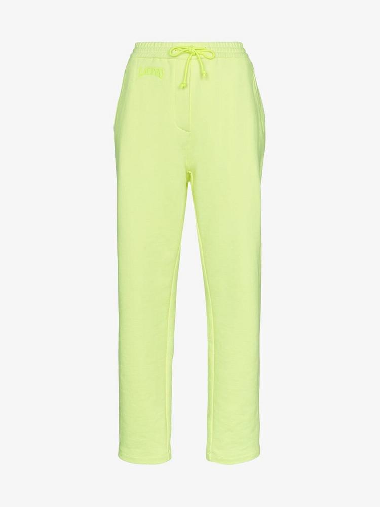 Juun.J high-waist cotton track pants in yellow