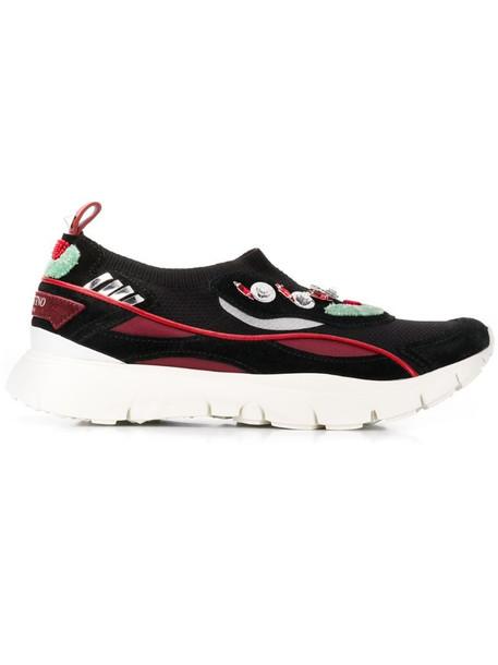Valentino Garavani embellished slip-on sneakers in black