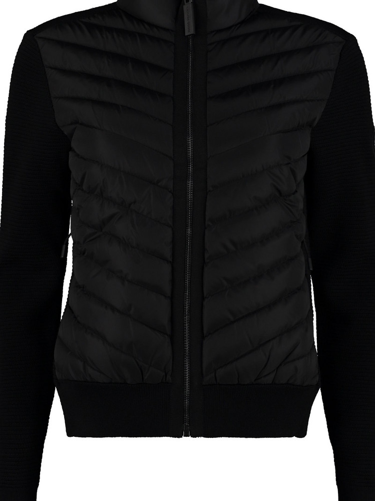 Canada Goose Hybridge Knitted Jacket With Padded Panel in black