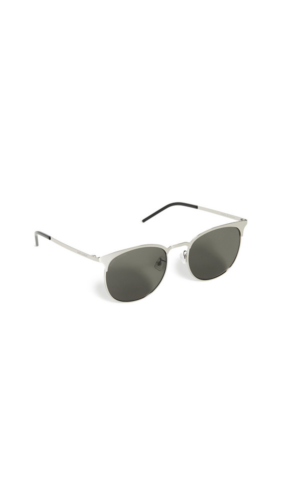 Saint Laurent SL350 Slim Sunglasses in grey / silver
