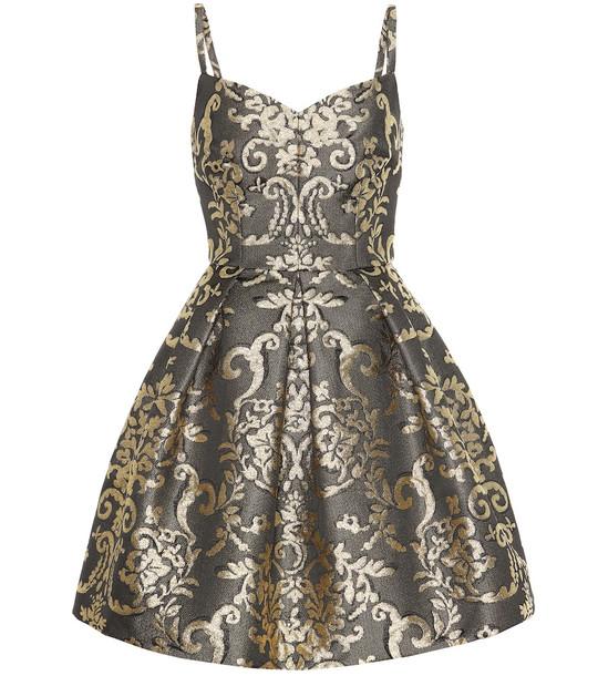 Dolce & Gabbana Metallic brocade minidress in gold