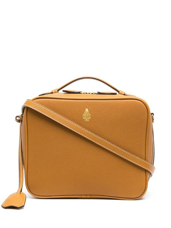 Mark Cross Madison leather crossbody bag in brown