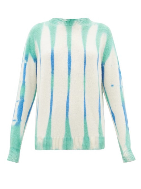 The Elder Statesman - Tie Dye Cashmere Sweater - Womens - Ivory Multi