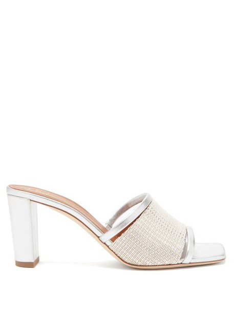 Malone Souliers - Demi Beaded Metallic-leather Mules - Womens - Silver