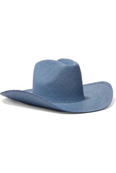 CLYDE - Straw Hat - Light blue