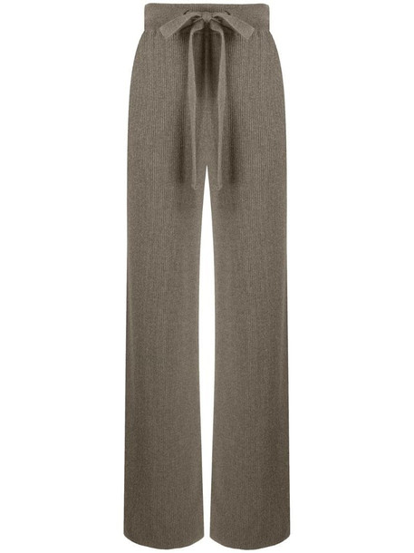 Nanushka ribbed-knit wool trousers in neutrals