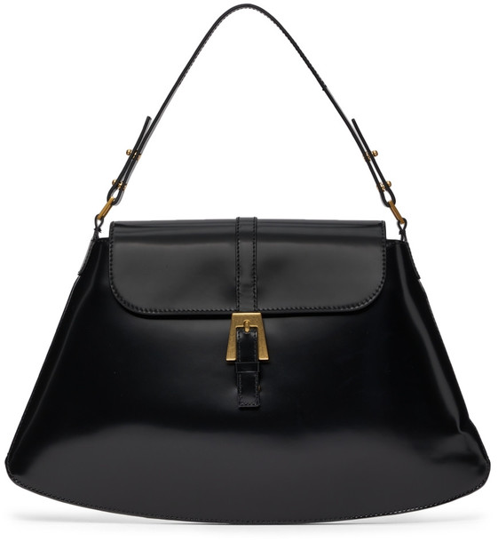 BY FAR Black Portia Shoulder Bag