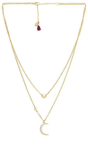 SHASHI Eclipse Necklace in Metallic Gold