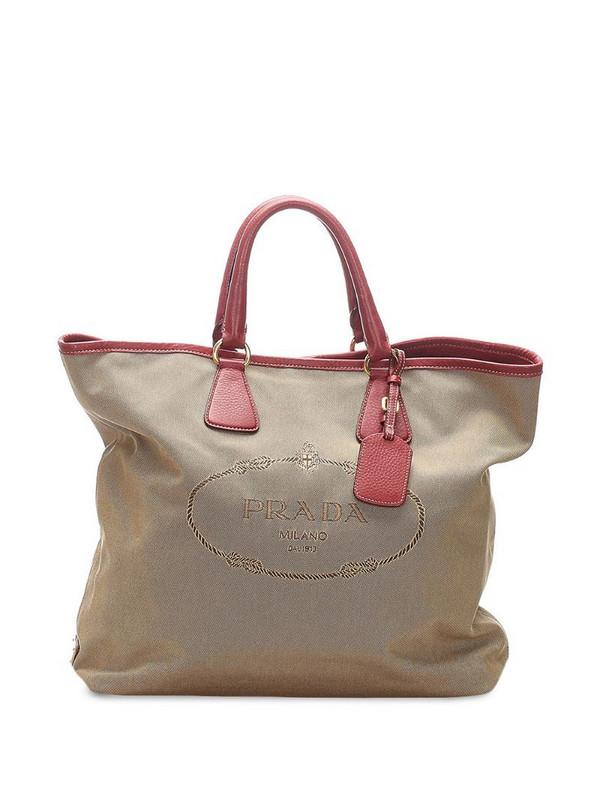 Prada Pre-Owned Canapa tote bag in brown