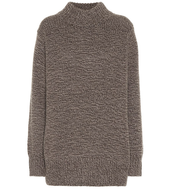 The Row Edmund cashmere sweater in brown