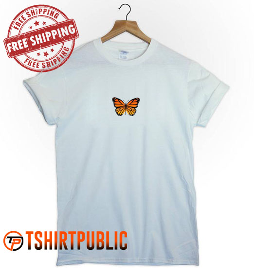 Butterfly T Shirt Adult Free Shipping - Cheap Graphic Tees