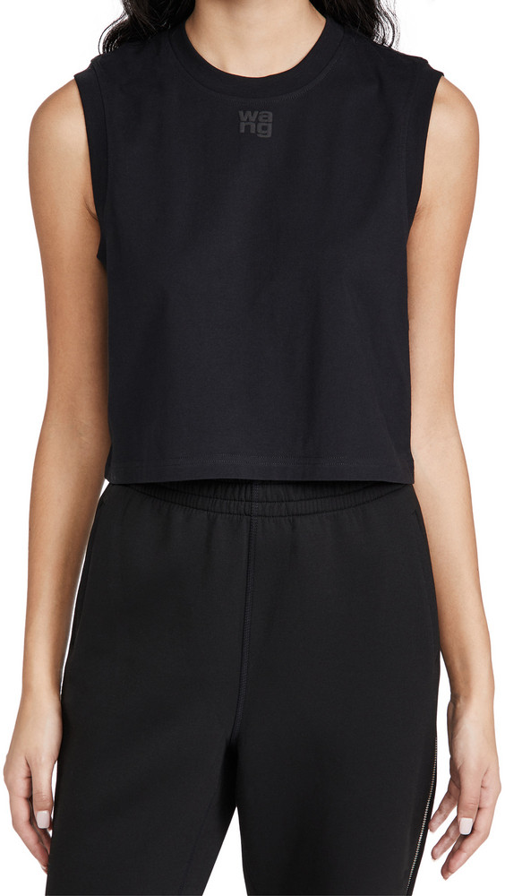 alexanderwang.t Foundation Muscle Tee with Puff Paint Logo in black