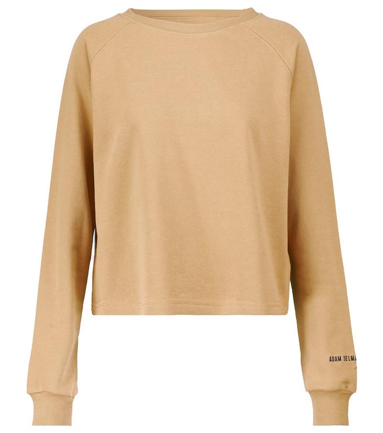 Adam Selman Sport Boxy cotton-blend sweatshirt in beige