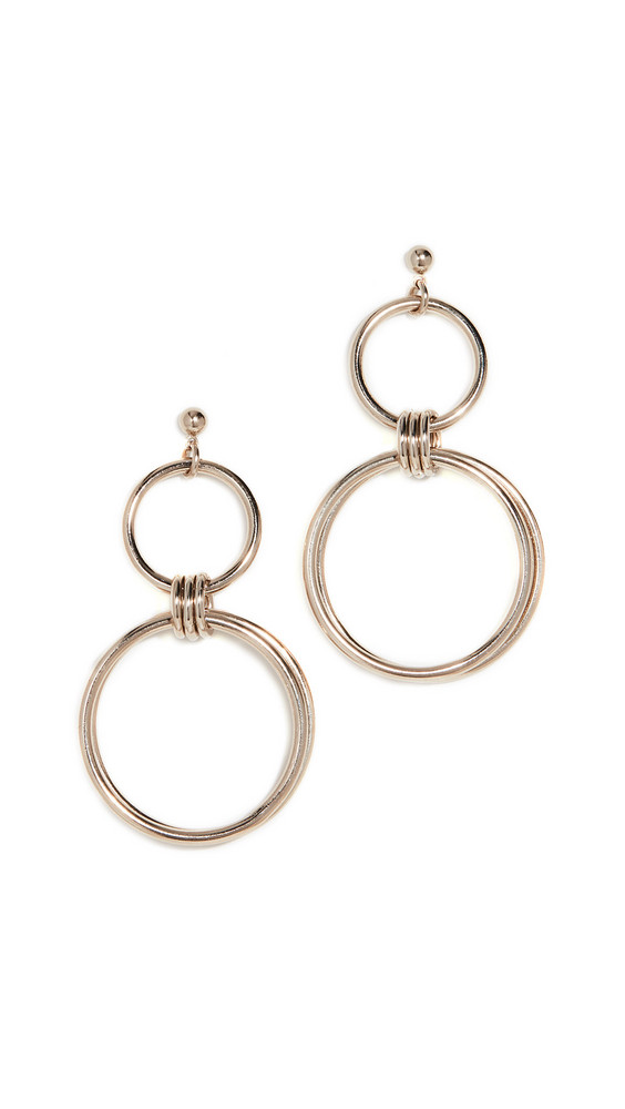 Justine Clenquet Alice Earrings in gold