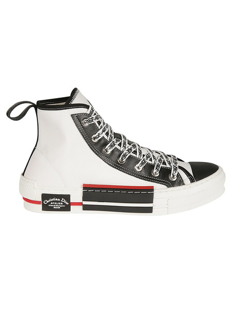Christian Dior Street Style Plain Sneakers in black / white