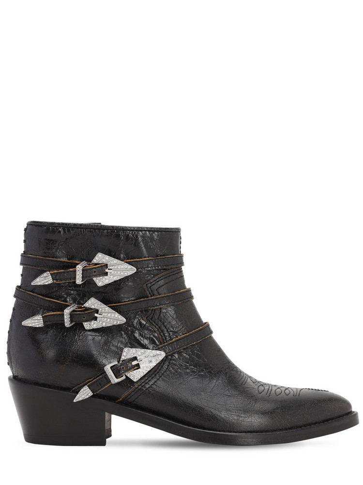 ZADIG & VOLTAIRE 45mm Vintage Leather Ankle Boots in black