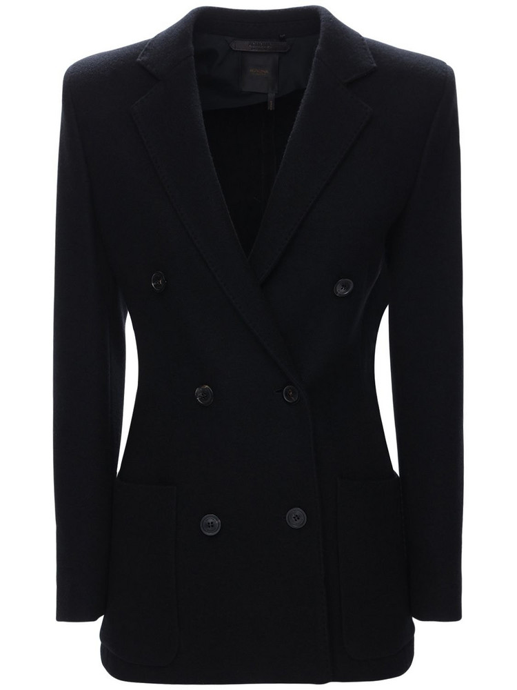 AGNONA Double Breasted Cashmere Jacket in black