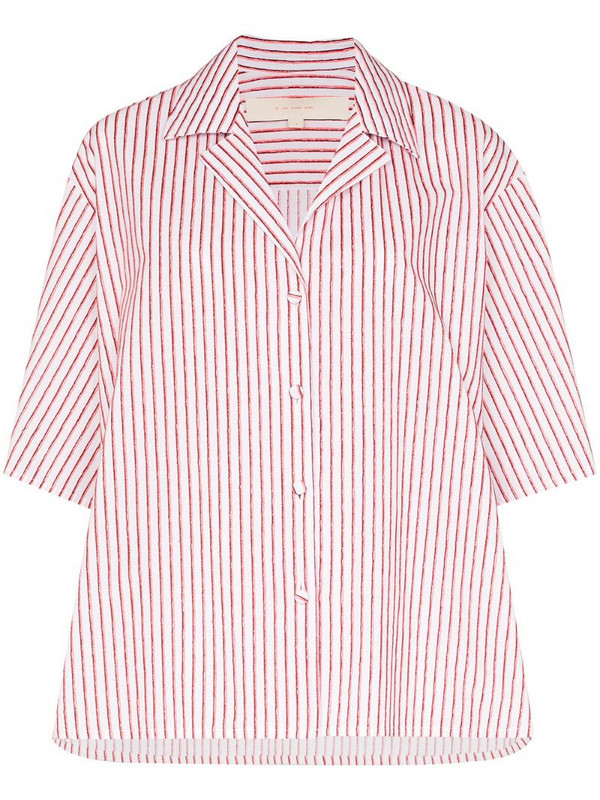 By Any Other Name striped strap sleeve shirt in pink