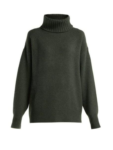 Extreme Cashmere - No. 20 Oversize Xtra Cashmere Blend Sweater - Womens - Khaki