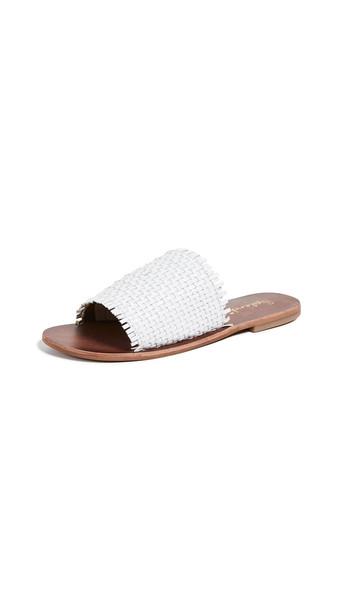Splendid Truth Woven Slide Sandals in white