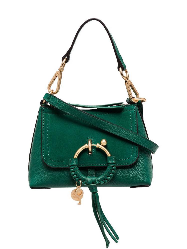 See by Chloé See by Chloé mini Joan leather crossbody bag - Green