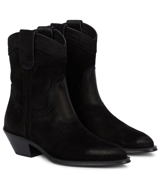 Saint Laurent Eastwood suede ankle boots in black