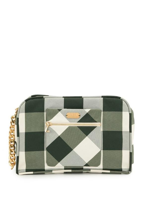 0711 khaki vivi cosmetic bag in green