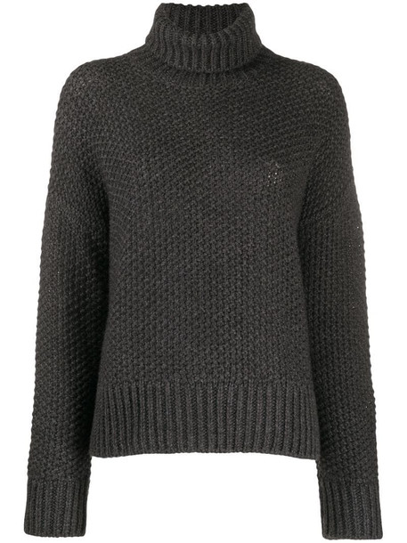 P.A.R.O.S.H. roll neck knit jumper in grey