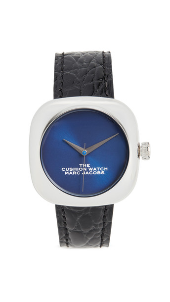 The Marc Jacobs The Cushion Watch 35mm in black / blue