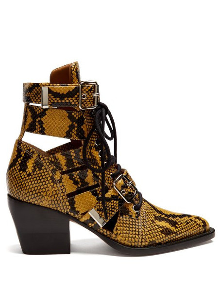 leather ankle boots snake ankle boots leather yellow shoes